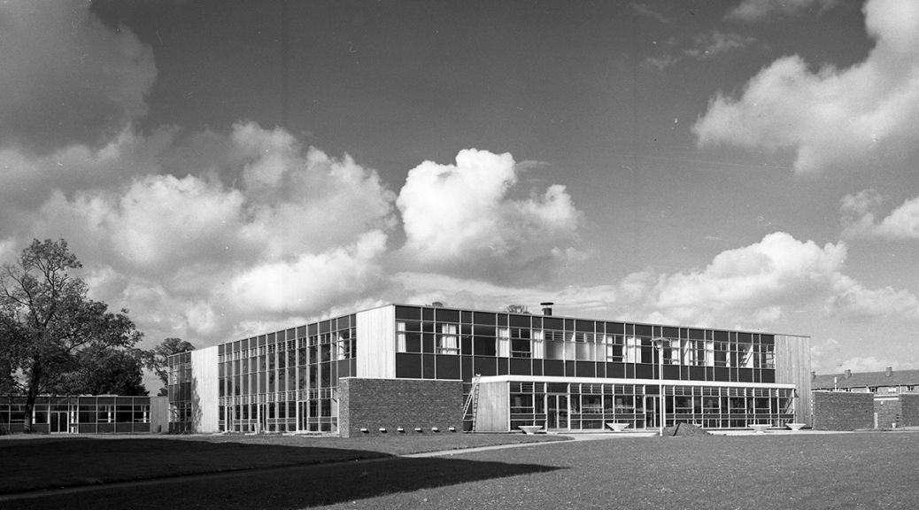 Barnwell School 1959, brand new school, 60 architecture, exterior