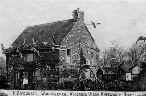 The woodcarver's cottage in Woolmer Green
