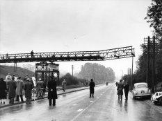The bridge nears completion, November 1955.