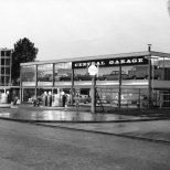 The Central Garage in the Town Centre, taken in about 1958.