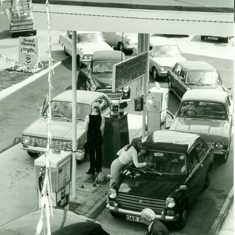 The opening of the Chevron Garage on Cuttys Lane in 1970.